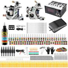 Kit de Tatuaje Completo 2 Maquinas Agujas Poder Tubos Grips Set 54 Tintas TK252