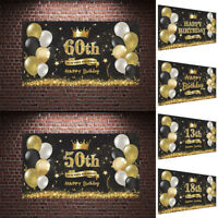 HAPPY BIRTHDAY BUNTING BANNER DECORATIONS CONFETTI Background Large HOT Party