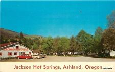 1950s Jackson Hot Springs Ashland Oregon Living Color Dexter postcard 5441 autos