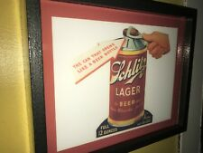 Schlitz Lager Conetop Can Beer Tavern Bar Man Cave Advertising Lighted Sign