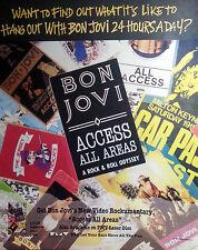 BON JOVI ADVERT POSTER ACCESS ALL AREAS NOT REPRINT VERY RARE