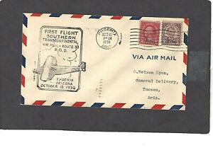 #671,672 FIRST FLIGHT PHOENIX,AZ CAM 33-OCT 15-1930