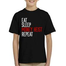 Eat Sleep Argent Heist répéter KID'S T-Shirt
