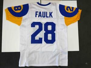 Marshall Faulk Jersey Custom Unsigned Stitched White Los Angeles Jersey Size XL