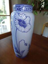 fives lille ancien vase signé gustave de bruyn art nouveau