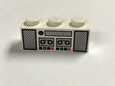 Lego 1x3 Brick Printed Cassette Speakers Buttons Retro Radio Lego Piece