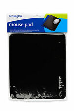 Kensington Black Mouse Mat Pad Smooth Non Slip Skid Backing For PC Laptop Mac