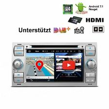 Silber Android 7.1 2 DIN Autoradio DVD GPS Navi HDMI für Ford Kuga Focus C-Max