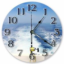 "10.5"" FISHING BOAT CLOCK - Large 10.5"" Wall Clock - Home Décor Clock - 3174"
