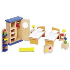 Goki 51745 Puppenmöbel Schlafzimmer modern Puppenhaus Holz 21 teile