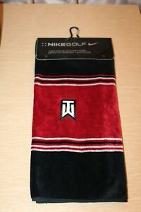 "NIKE TW Tiger Woods Face/Club Jacquard Towel Golf Towel 16"" X 24"" RARE NEW 2007"