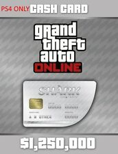 Grand Theft Auto V Online White Shark Cash Card $1,250,000 [Playstation 4 DLC]