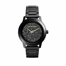 New Michael Kors Kinley Pave Crystal Dial Black Women's 42mm MK5999 Watch