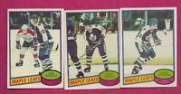 1980-81 OPC LEAFS BOSCHMAN RC + ANDERSON RC + SAGANIUK RC  CARD  (INV# A4687)