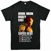 Iron Man T-Shirt, Super Hero Action Marvel Avengers Adult & Kids Tee Top
