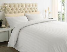 100% Egyptian Cotton Stripe Duvet Cover & Pillow Case 400TC Bedding Set All Size