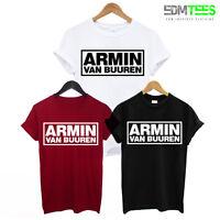 ARMIN VAN BUUREN PRINTED TRANCE MENS T-SHIRT ASOT HOUSE MUSIC IBIZA RAVE DJ TEE