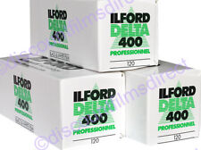3 x ILFORD DELTA 400 120 Roll BLACK & WHITE CAMERA FILM by 1st CLASS POST