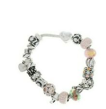 """Vintage Michael Anthony MA Memories Charm Bracelet Murano 925 Sterling Silver 8"""""""