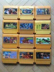 12 Dendy Famiclone Games Bundle Lot (TV Game Cartridges)