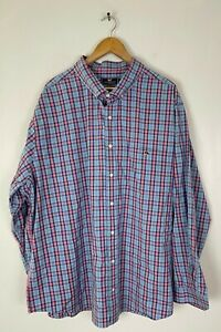 VINEYARD VINES Mens Size 2XB Blue & Pink Plaid Classic Fit Tucker Shirt