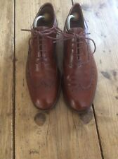 Mens Brown Leather Brogues By Clarks Size 8.5 G