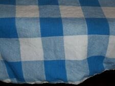 Closed Vintage Feed Sack Feed Bag Quilt Fabric Blue & White Checks / Squares