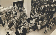 VINTAGE STREET PHOTOGRAPHY, AERIAL SHOT OF SHOPPERS IN BLOOMINGDALES, NYC.