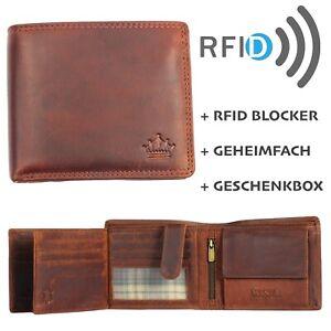 Portemonnaie Herren Geldbörse Börse Geldbeutel Echt Leder RFID Schutz MANZA®