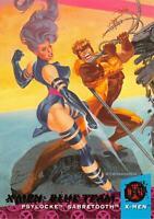 PSYLOCKE & SABRETOOTH / X-Men Fleer Ultra 1994 BASE Trading Card #112