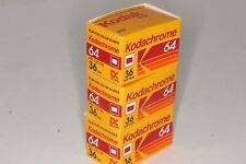 Lot of 3 Kodak Kodachrome 64 slide, 36, Display Back removed, Exp. 1990 or prior