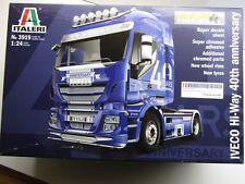 Italeri 1:24 Scale Iveco Hi-Way 40th Anniversary Truck Model Kit New - Kit #3919