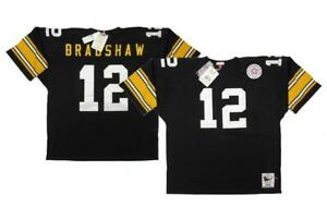1975 Terry Bradshaw Steelers Men 4XL-5XL Mitchell & Ness Authentic Jersey $325