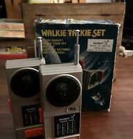 Vintage Walkie Talkie Set With Morse Code  - Boxed And Working