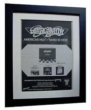 AEROSMITH+Rocks+Toys+TOUR+POSTER+AD+RARE ORIGINAL 1976+FRAMED+FAST GLOBAL SHIP