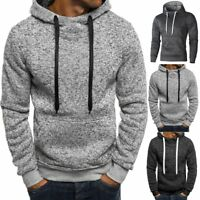 2018 Men's Winter Slim Hoodie Warm Hooded Sweatshirt Coat Jacket Outwear Sweater
