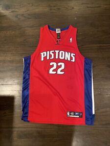 NBA Basketball Detroit Pistons Tayshaun Prince #22 Jersey Men's 48 XL Reebok RED