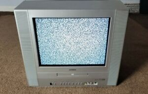 """Toshiba MD14FP1 14"""" CRT  TV Retro Gaming DVD COMBO Tested Works!"""