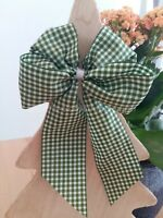 10 Weihnachtsschleifen Christbaumschmuck Weihnachten Schleifen grün weiß Karo