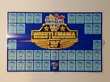 Hostess WWF Wrestlemania IV Sticker Poster 1988 RARE!!!