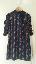 NEW Hi There from Karen Walker Rose Vine ruched sleeves dress, size 8