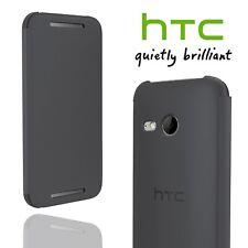 Official HTC One Mini 2 Flip Case Slim Tough Folio Cover Grey Genuine V970 New