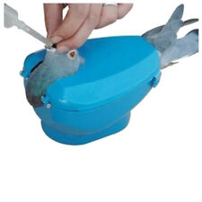 Blue Plastic Racing Pigeon Holder Easy Bird Fixed Frame Rack Medicine Feeder Box