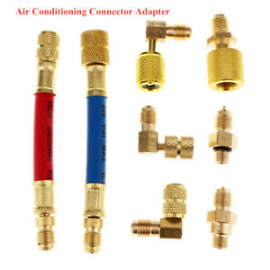 New Car Fittings Quick Coupler Connector High Low Home Conditioning Adapter Kit