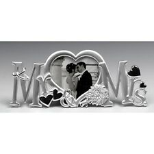 Silver satin MR & MRS  message photo frame ideal wedding gift for bride & groom