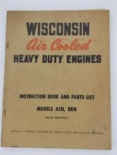 Wisconsin Air Cooled Heavy Duty Engines Models Acn Bkn Mm 270 C Manual Parts