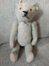 """Antique 14"""" Grey Short Mohair Teddy Bear Jointed Early 1920's Estate find Nr!"""