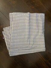 Tommy Hilfiger Blue White Check Plaid Euro Sham Pillowcase