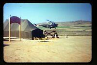 1950's Korean War Army Helicopter, Korea at UN Prisoner Exchange, Orig Slide b3a