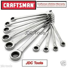 Craftsman 10 pc piece SAE Combination Ratcheting Wrench Set 12 pt NEW